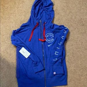 New Women's Nike cubs hoodie size m